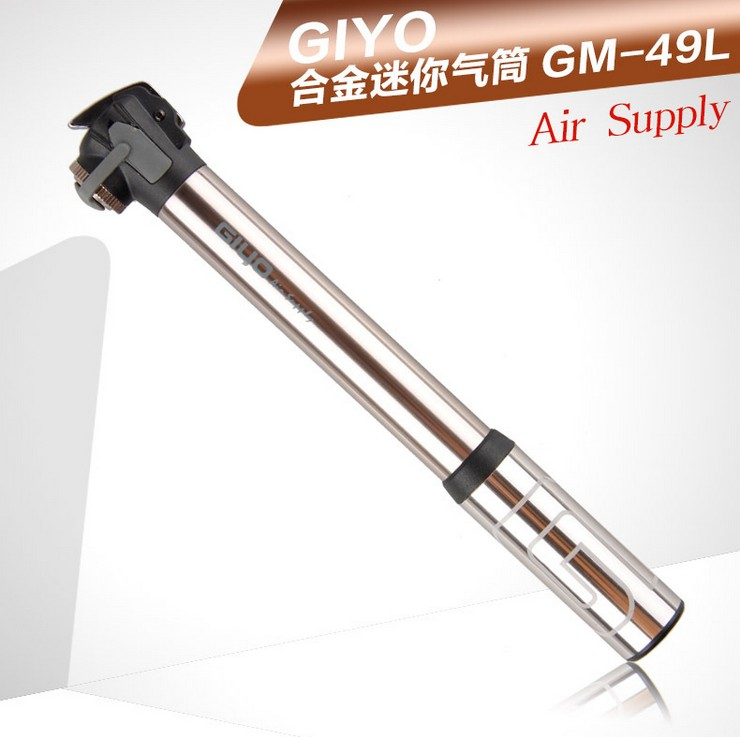 Giyo bicycle pump pump pump mini portable bike pump equipment us law mouth mouth universal GM-49L