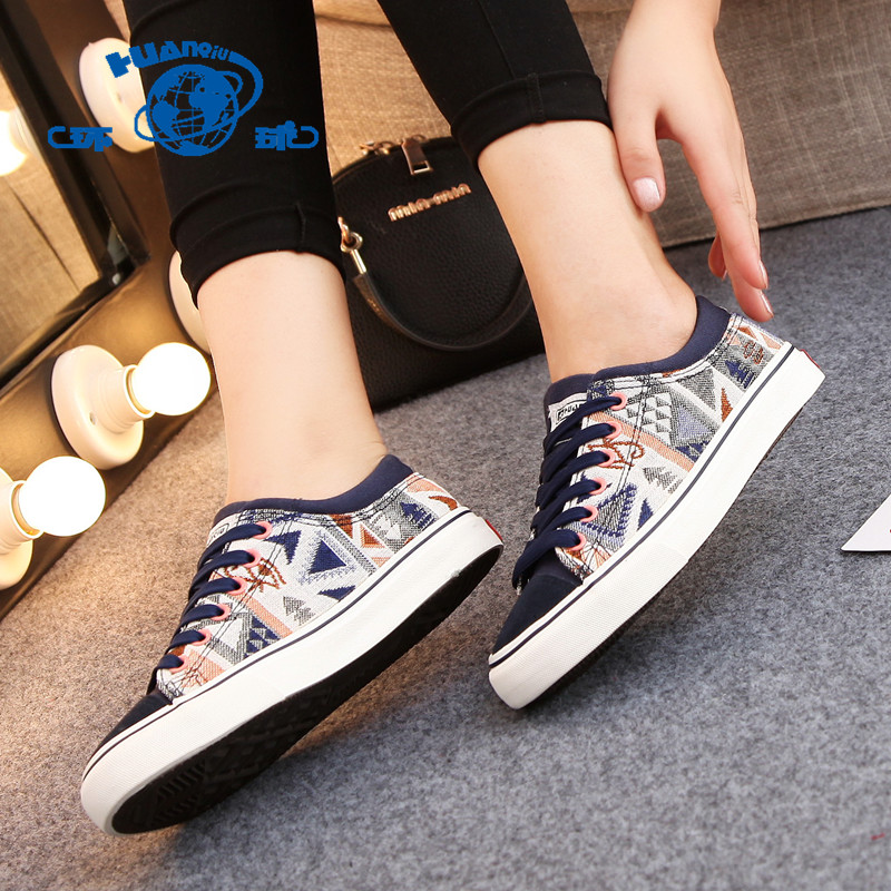 Global 2016 spring new spell color to help low canvas shoes female korean tidal shoes student shoes casual shoes shoes flat shoes