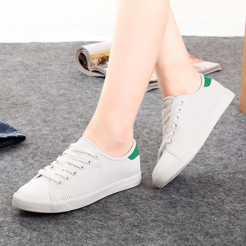 Global 2016 summer new breathable mesh shoes white shoes casual canvas shoes tide female korean students disposable microfiber
