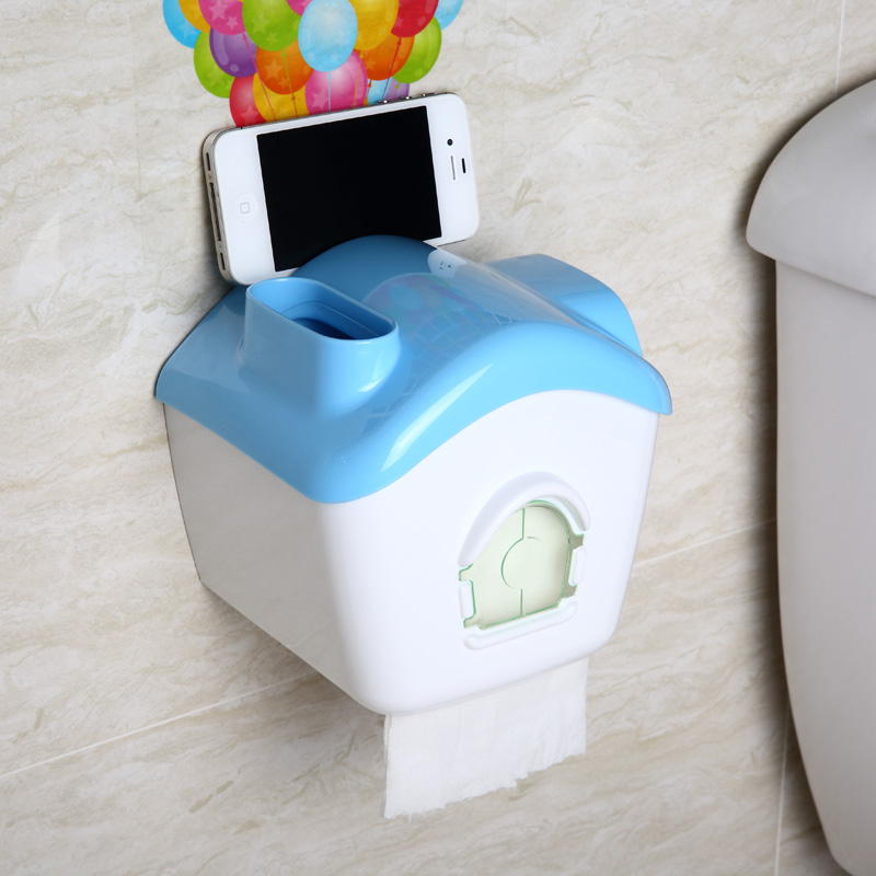 Global remember flying house multifunction waterproof roll holder/tissue pumping rolls towel tube tissue storage box