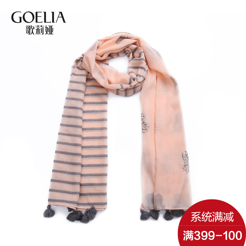Gloria 399-100 ladieswear 161A9A040 2016 new elegant ladies wild fringed scarves printed scarves