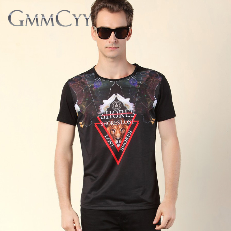 Gmmcyy years youth summer new men's fashion t-shirt printing iron short sleeve round neck t-shirt 9819
