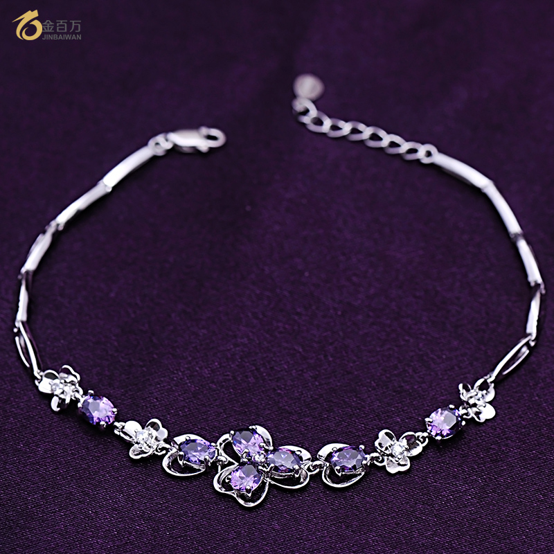 Gold one million gemstone bracelet 2016 sterling silver bracelet female korean fashion simple popular jewelry to send his girlfriend a gift