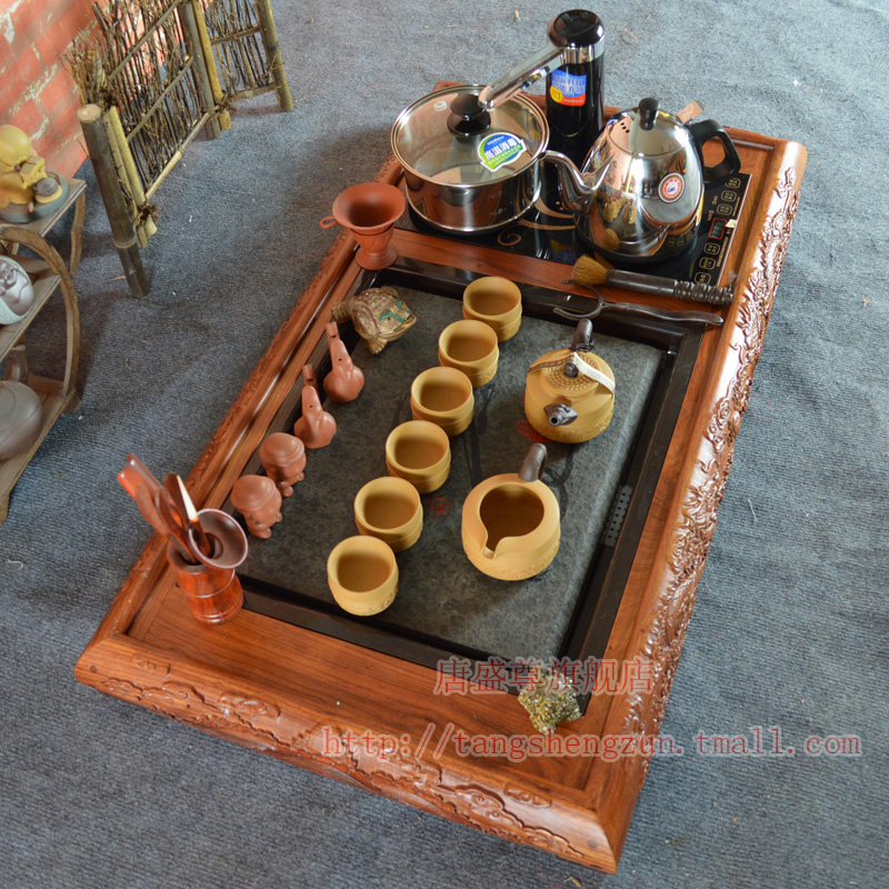 Gold stove electric stove唐盛唐盛royal rosewood tea tray tea tray tea tray microcomputer plus hydro electric kettle tea machine