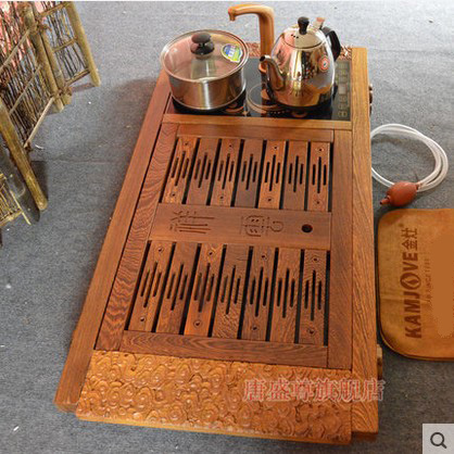 Gold stove electric stove tea tray wenge clouds since the absorption of water multifunction wood tea tray tea machine