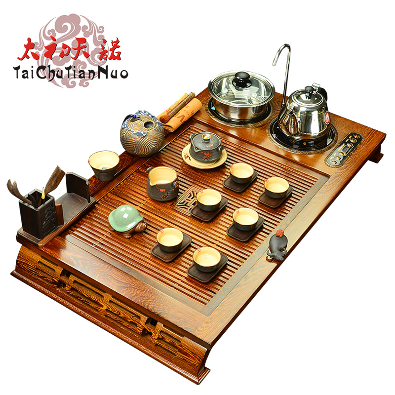 Gold stove V216A wenge wood tea tray yixing tea set kung fu tea set special offer