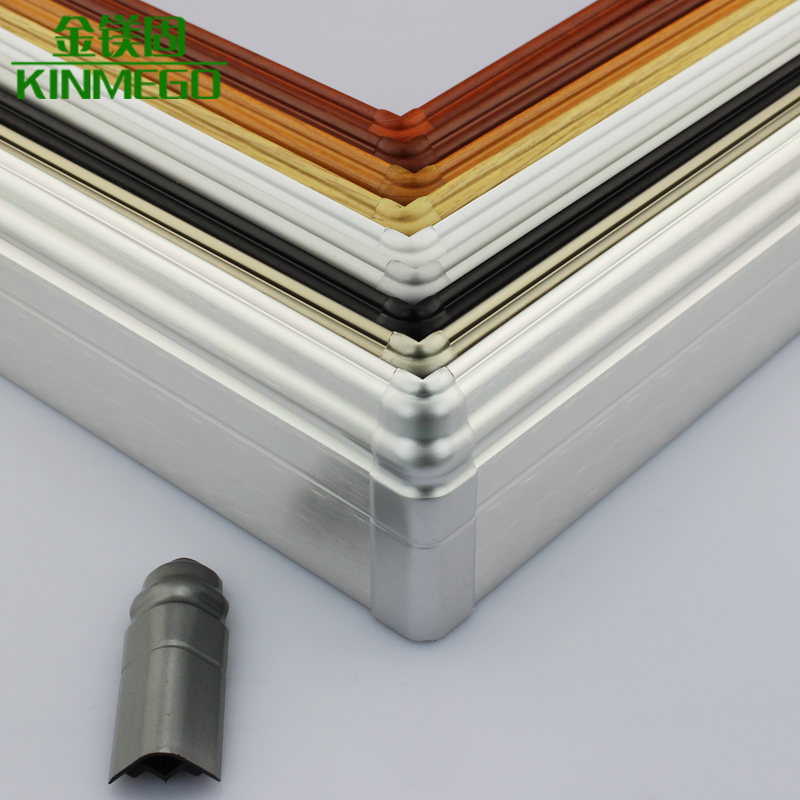 Golden solid magnesium brushed aluminum baseboard skirting board accessories connected to the outside corner moldings wood geostrophy alternatives