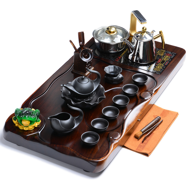 Good good laughlng 《 》 heyday with ebony wood tea tray yixing tea sets tea tray cooker ebony
