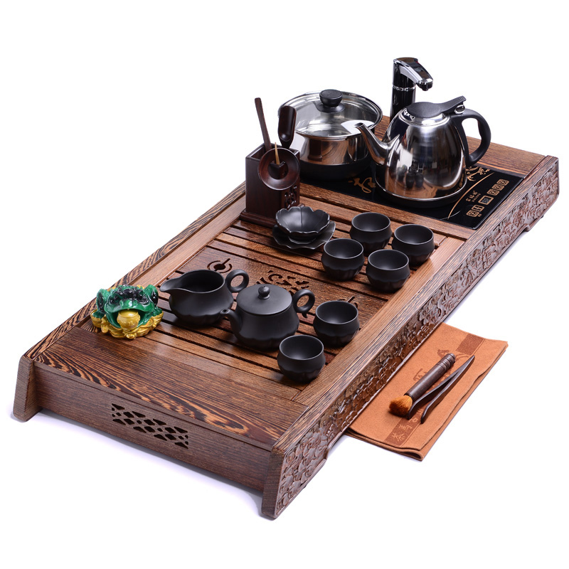 Good good laughlng ã ã immortals large wenge wood tea tray yixing tea sets mahogany tea tray tea sea station