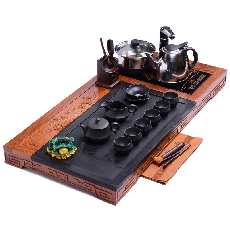 Good good laughlng ã ã plum and peace mahogany rosewood solid wood tea tray yixing tea sets tea tray tea sea