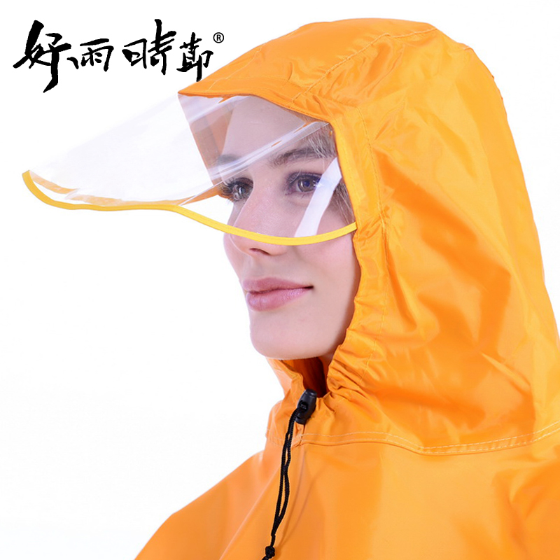 Good rain season transparent big hat thickening increase poncho raincoat motorcycle electric vehicles poncho mount trailer