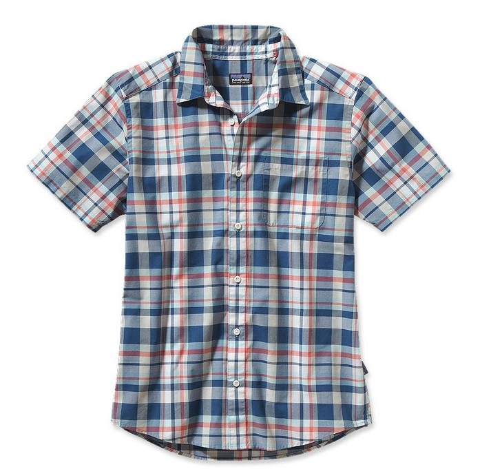 Goto patagonia outdoor men's casual shirt sleeve shirt lapel