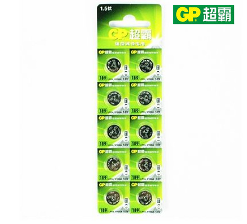 Gp super battery 389 lr54389 lr1130 ag10 button electronic 189 section 10 price free shipping