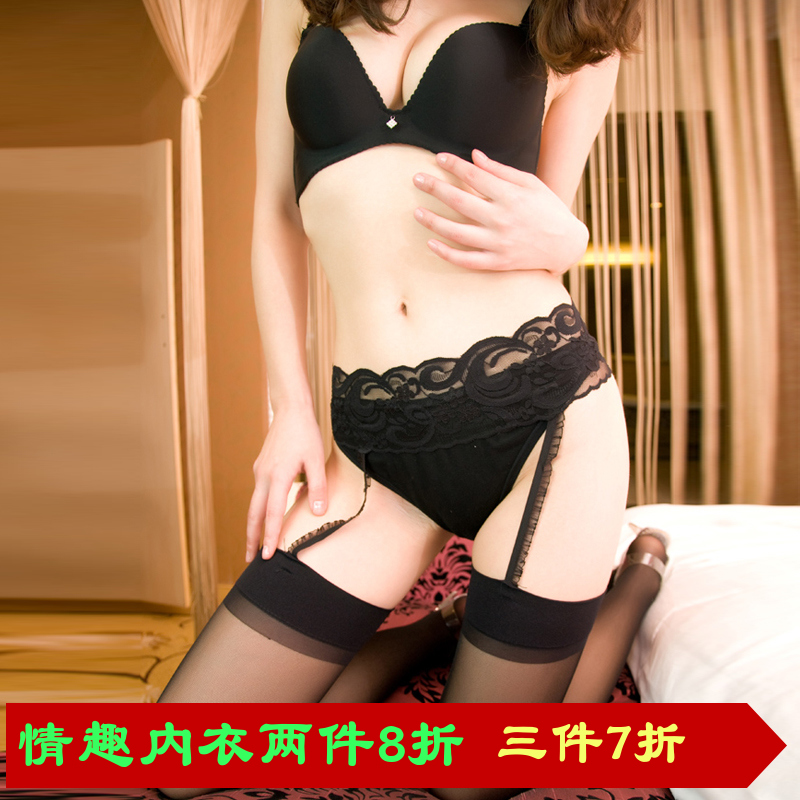 Grade imported black thigh stockings sexy lace stockings garters suit temptation sexy lingerie garters