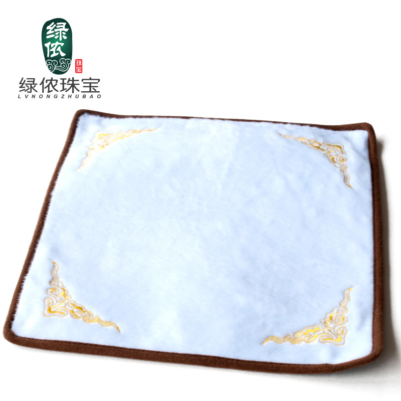 Green lennon counter jewelry display props sided slip flannel cloth to see the goods jade jewelry display cloth doily bead