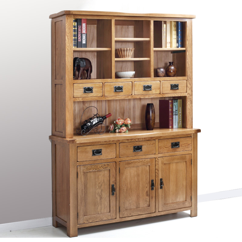 Green living love white oak wood sideboard american country four door storage cabinet kitchen cupboards