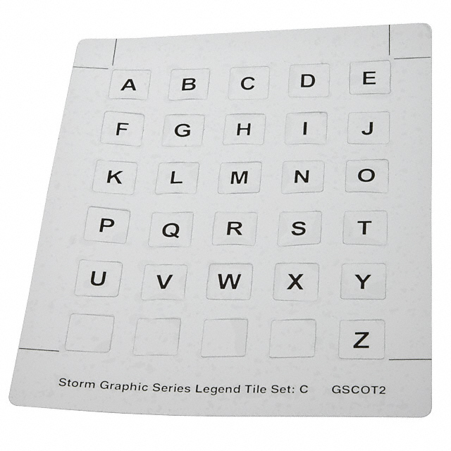 GSC0T203 [26 pc set c alphabet key legend]
