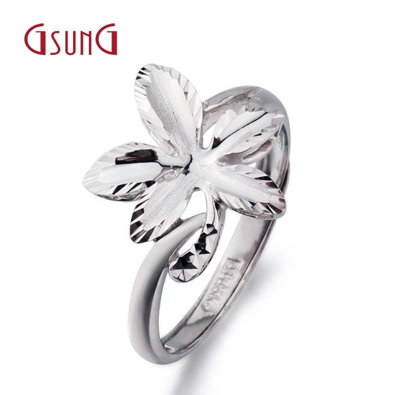Gsung kyrgyzstan kyrgyzstan leaves the ring jewelry female models pt950 platinum ring wedding ring engagement ring nvjie