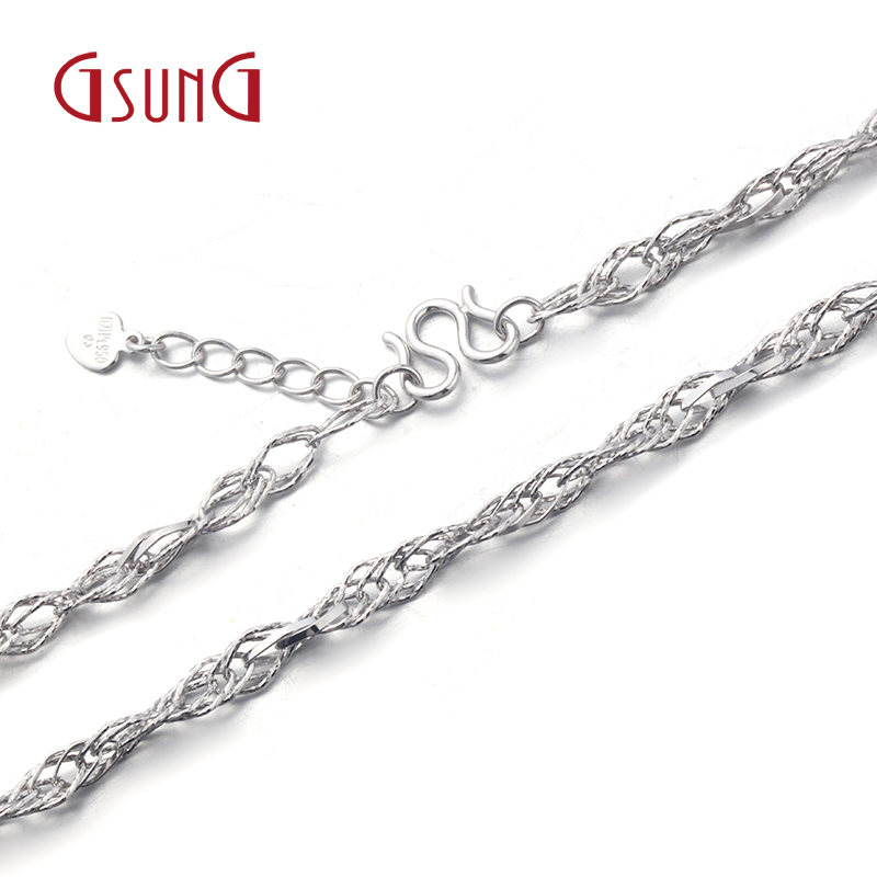 Gsung kyrgyzstan kyrgyzstan pt950 platinum necklace female models classic wild pendant necklace platinum necklace female models with disabilities