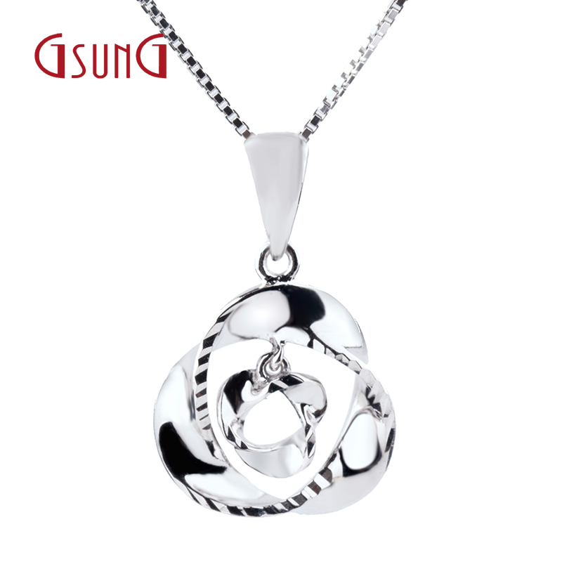 Gsung kyrgyzstan kyrgyzstan pt950 platinum pendant necklace pendant necklace with a women's wild section solid gold for everyday wear