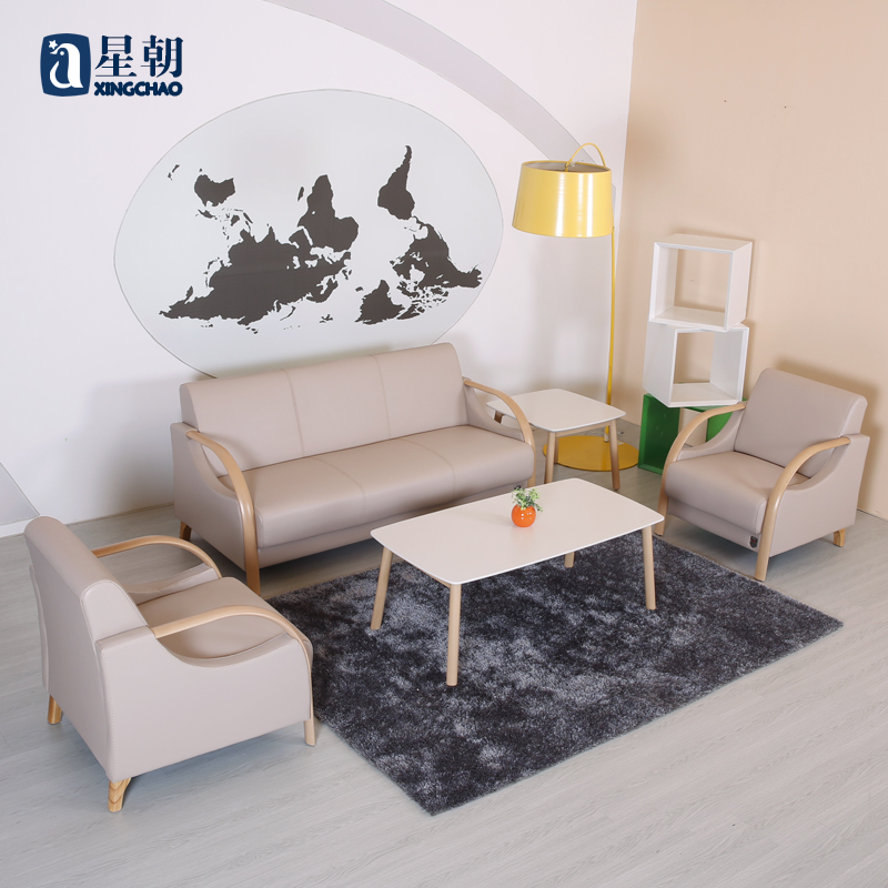 Guangzhou office furniture modern minimalist office sofa to discuss business office reception parlor sofa table