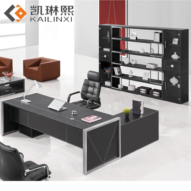 Guangzhou office furniture office tables and chairs combination of simple and stylish desk desk desk manager boss desk desk desk