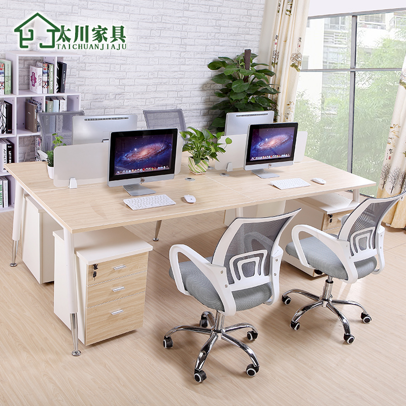 Guangzhou office furniture screen desk desk staff minimalist modern office furniture 4 digit