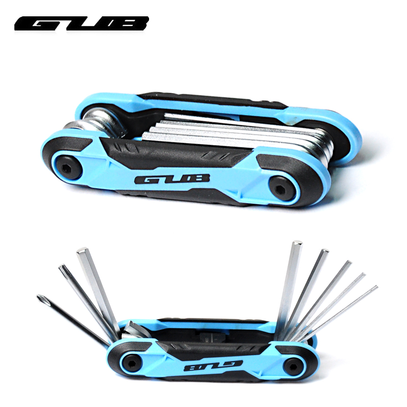 Gub bike repair tool combination multifunction triple multifunction folding mountain bike road bike tool kit