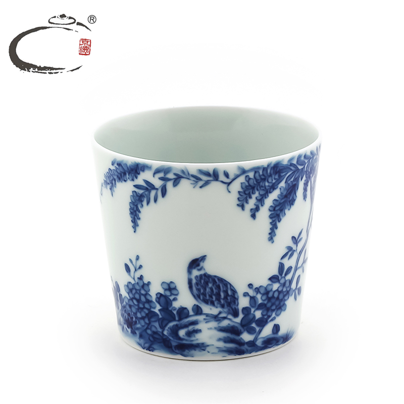 Gui xiang painted blue and white tea cup cup barrel delineators craftsmen handmade bowls jingdezhen hand painted tea cup