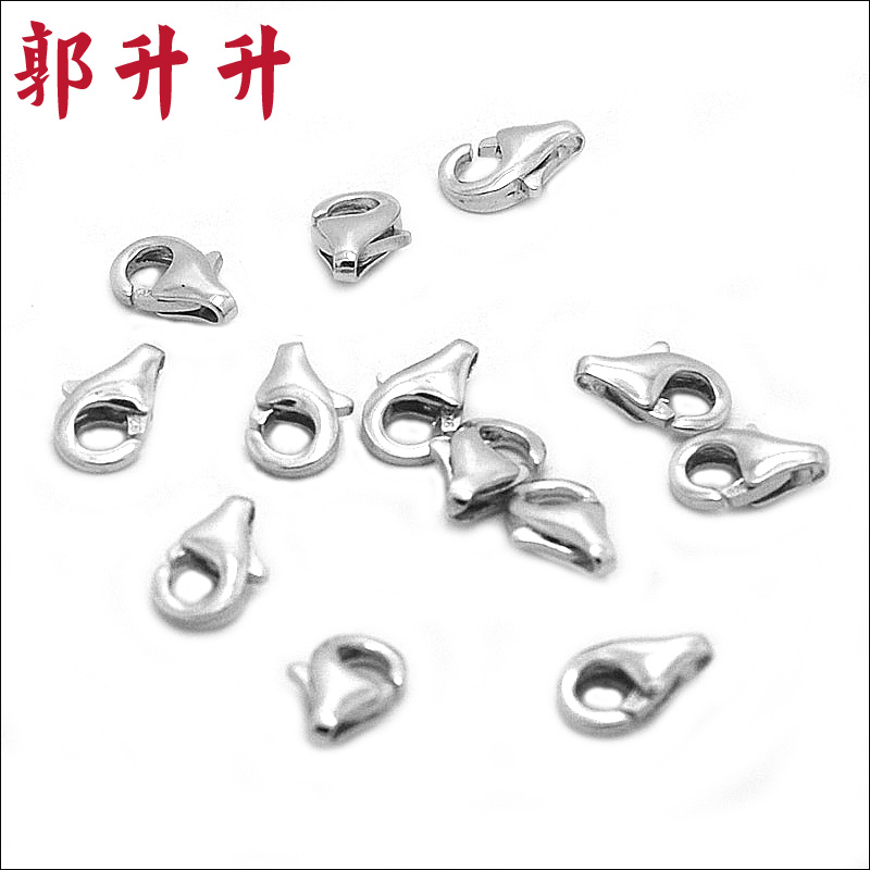 Guo rose and authentic 925 silver droplets 925 silver rhodium clasp buckle question mark spring clasp buckle diy handmade accessories