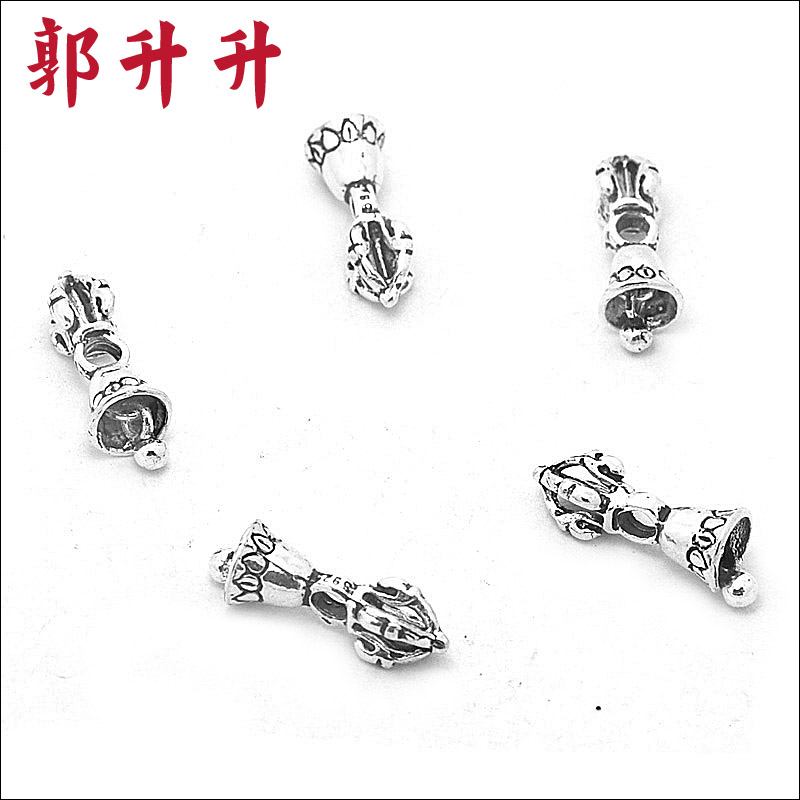 Guo rose and authentic 925 thai silver bells silver bells diy handmade silver jewelry accessories jewelry