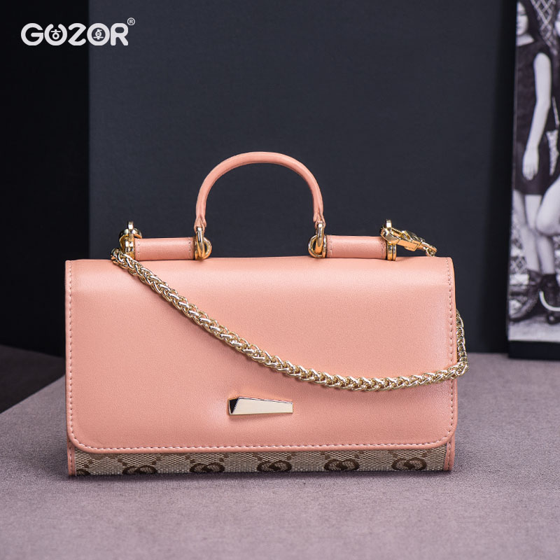 Guzor/ancient zhuo ms. canvas wallet long section of simple handbag evening bag clutch bag chain shoulder bag small bag