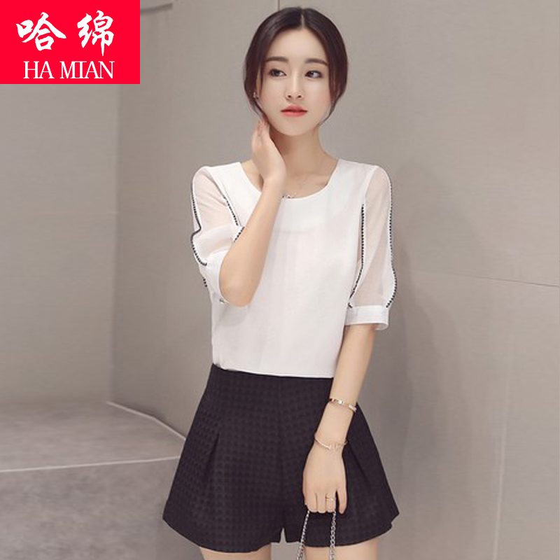 Ha cotton fashion suit female summer fashion tide 2016 summer new piece was thin shorts shorts casual shorts