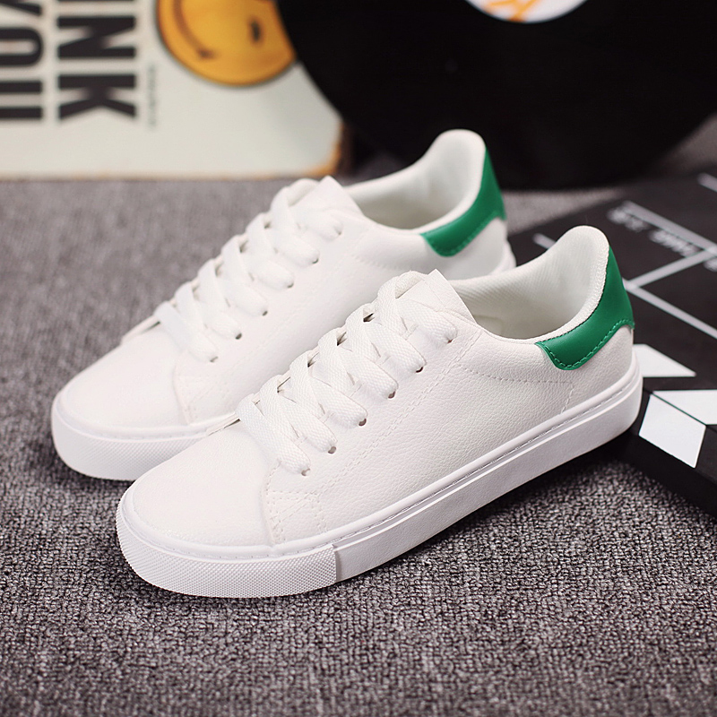 Ha sin 2016 autumn korean version of casual shoes white shoes new shoes spell color shoes flat bottom shoes student shoes