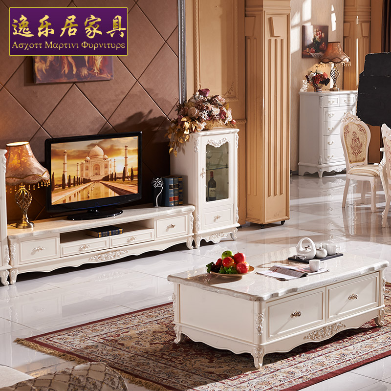 Habitat pleasures european french coffee table coffee table european solid wood coffee table tv cabinet living room coffee table marble coffee table