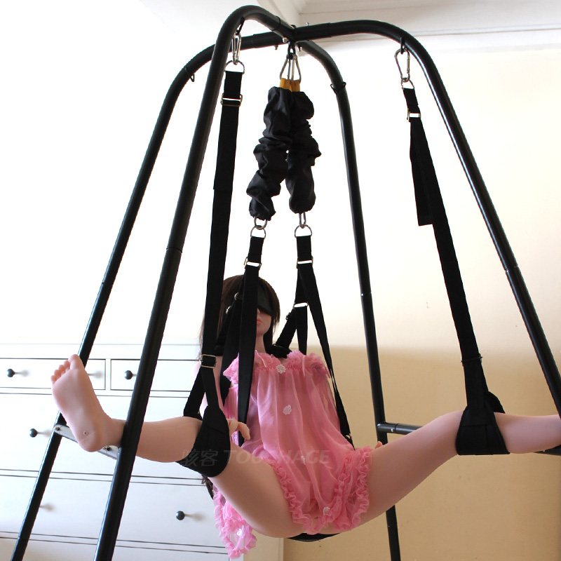 Hackers sm double swing hanging chair hammock alternative flirting fun supplies intercourse adult love game equipment