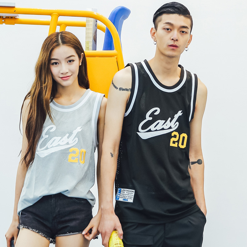 Hahn qlz2016 summer men and women lovers summer new korean version of the influx of embroidery sleeveless vest t-shirt lovers