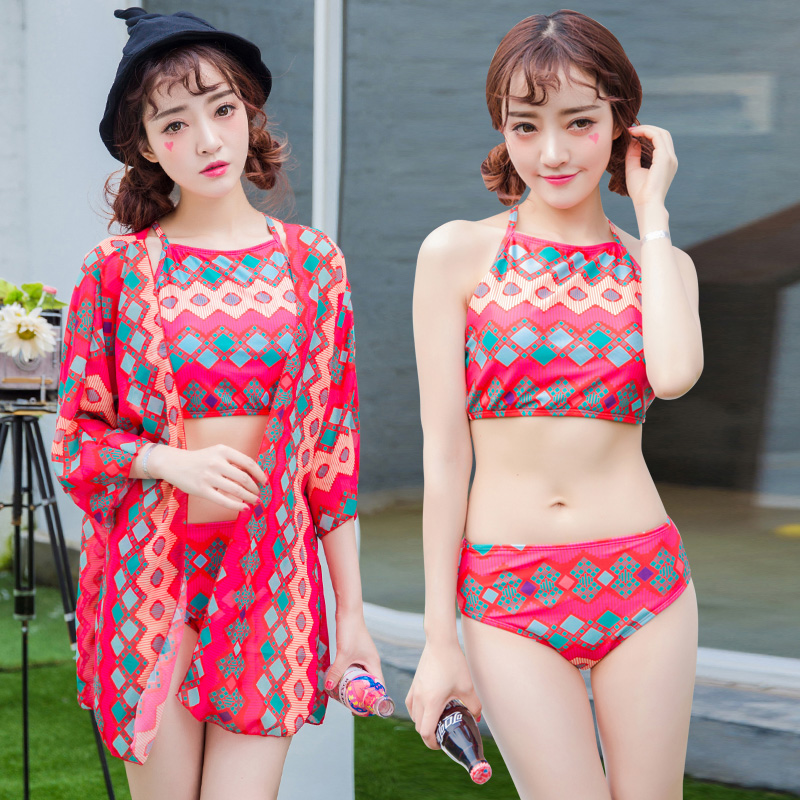 Haixiang new swimsuit sexy bikini three sets of female swimsuit cover the belly sexy gather swimsuit swimsuit smock vacation