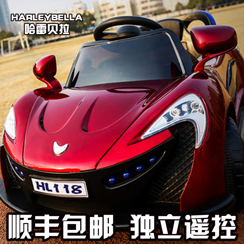Haleys camarones children electric car can sit four children electric car remote control large children's sports car