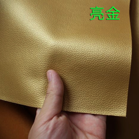 Half price bright gold small embossed faux leather automotive leather pu leather fabric leather roolls