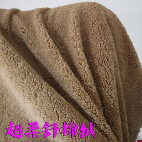 Half price camel cotton velveteen plush cashmere flannel material sweater fabric liner lining garment linings