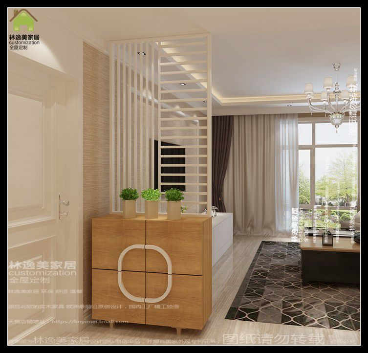 Modern Minimalist Entrance Hall Cabinet Shoe Walnut Color Hollow Parion Wall Cabinets Custom Furniture In Price On