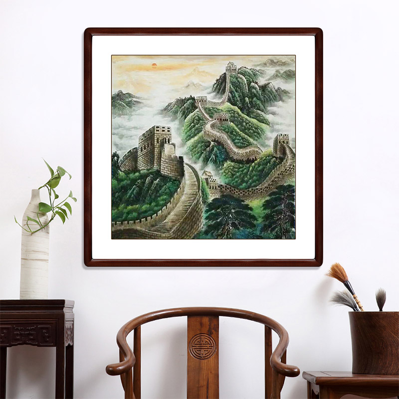 Hall was still painting hand painting of the great wall in the lobby living room office calligraphy and painting landscape painting feng shui paintings off the mysterious