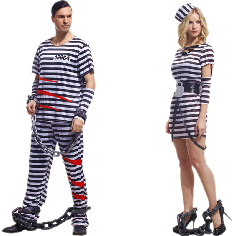 Halloween cosplay costume adult male mask dance costumes dress clothes jumpsuits prisoners prisoners