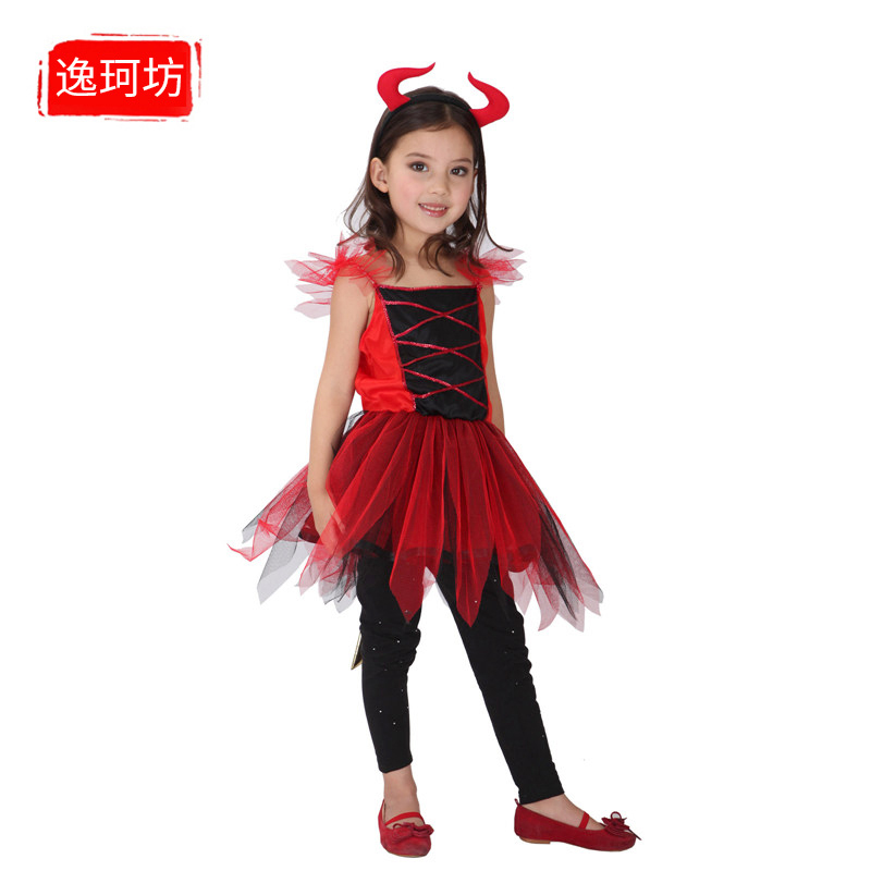 c72bb8f3853b Get Quotations · Halloween costumes female red devil witch vampire costume  masquerade cosplay girls