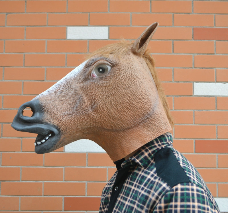 Halloween dance party props blessing five beshimova contention cos. animal headgear horse head mask party mask venice