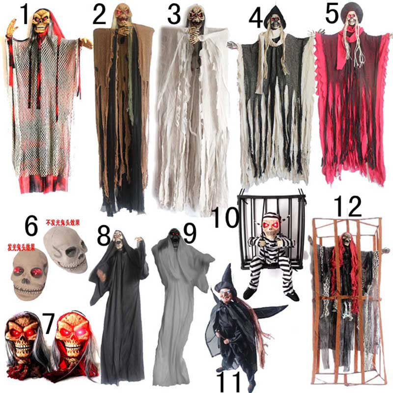 Halloween halloween supplies decorative props ktv skull scary haunted house horror props theme props