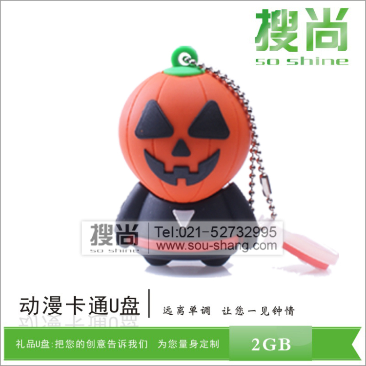 Halloween pumpkin halloween creative u disk u disk usb holiday gifts ofwhich memory can be any shape custom mold