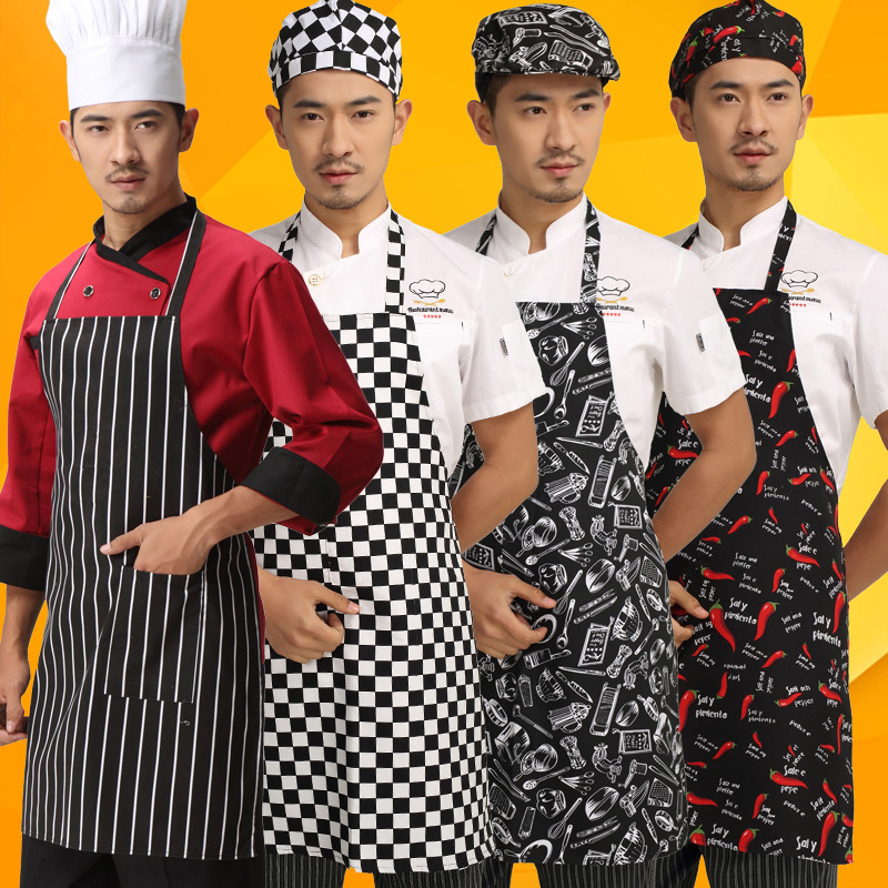Halter apron aprons chef aprons work clothes fast food restaurant kitchen aprons antifouling waterproof custom logo