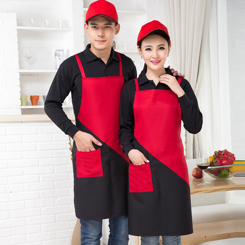 Halter apron kitchen cooking apron apron water and oil repellency chef hotel coffee shop in the hotel kitchen apron division between men and women